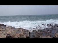 Storm aan de Middellandse Zee